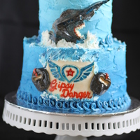 Pacific Rim Cake   Knifehead is made from a combination of fondant and modeling chocolate.