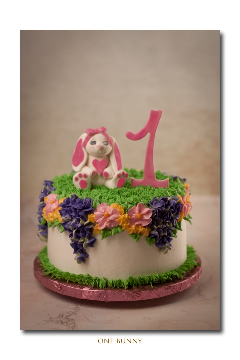 Birthday Bunny This was an odd theme for me for a first birthday party but the mom wanted a Spring flowers and the dad wanted a bunny. This was what I...