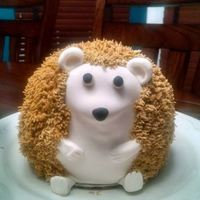 Hedgehog Cake Hedgehog Cake - fondant covered, royal icing spikes. Cute for a garden/tea party.