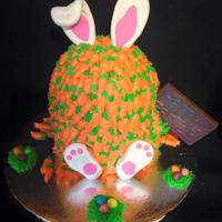 Bunny Covered In Carrots Cake   I thought this would be whimsical for our Easter party!