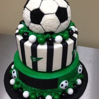 Soccer Ball This buttercream soccer themed cake was for a 5 year old boys birthday.