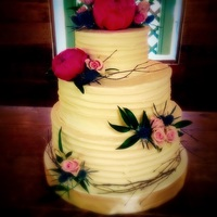 Buttercream Wedding Cake Simple southern buttercream wedding cake