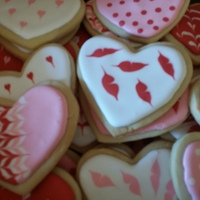 Valentines Cookies Butter cookies flooded with royal icing and decorated. TFL