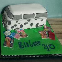 Cow Camper   For a lady who reads 'Trashy' mags when she goes camping, she like cows and campers too x