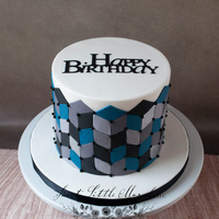 Geometric Birthday Cake Made this for a family friend.