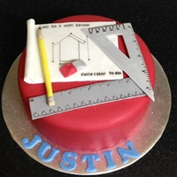Architect Themed Birthday Cake Architect themed birthday cake - All edible