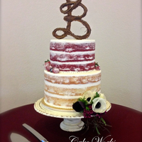 Naked Cake With Berries And Anemone  Naked cakes sure are popular this year - I have several more weddings coming up with this style of cake. I love the simple look, but I...