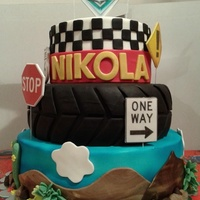 Cars Cake Disney's Cars theme cake, decorated with fondant and edible images