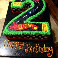 Hot Wheels Cake I made this for a little boy who loves hot wheels!