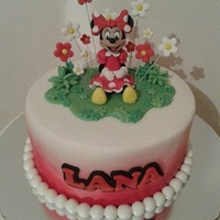 Minnie Mouse Cake Minnie airbrushed cake