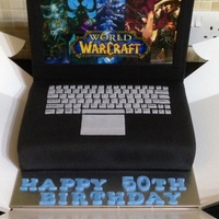 Laptop Cake - World Of Warcarft Themed   Laptop cake - World of warcarft themed