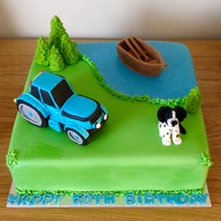Tractor / Boat Cake Tractor cake - All edible