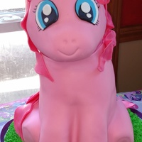 My Little Pony Cake I made this cake for my daughter's fourth birthday! Pinkie Pie is her favorite pony, and she carefully watched over the details of the...