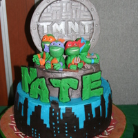 Teenage Mutant Ninja Turtles 7Th Birthday 7th Birthday for my son. Manhole cover is gumpaste. Everything else is some degree of modeling chocolate and MMF.