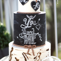 Rustic Birchbark Chalkboard Wedding Cake So… After a month, this baby has finally had the chance for a photoshoot. Do you remember the Valentines edition of this...