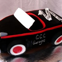 Ratrod Cake This was a grooms cake that loved old ratrod cars and was rebuilding one that look just like this one.