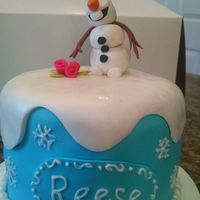 Frozen - Olaf Frozen Cake - Olaf topper is gumpaste