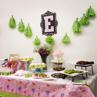 Green Polka Dots And Pink Baby Shower I had my baby shower last Sunday April 26th and i enjoyed making the sweets for the dessert table. Made all of them (cookies, cupcakes,...