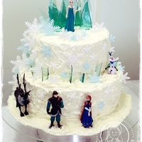 Frozen   buttercream and fondant (inedible characters)