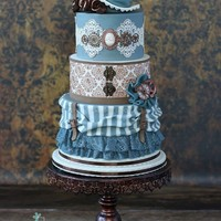 Steampunk Wedding Cake I loved making this wedding cake in non traditional steampunk colours!