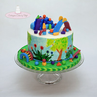 Jungle Gym This cake was inspired by and created for a local children's gym! All of the toys are made out of MMF. TFL