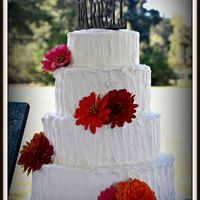 Rustic Wedding Cake   Rustic icing wedding cake