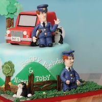 Postman Pat For 2 Toddlers Sharing A Birthday Party And Cake They loved it