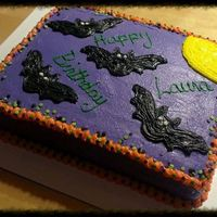 Halloween Birthday Cake Halloween birthday cake theme. All butter cream.