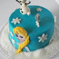 Frozen Another frozen cake for a 4 year old girl