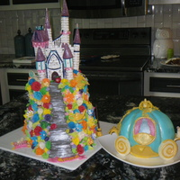 Princess Themed Cake All edible except some lights in the castle so that it would glow
