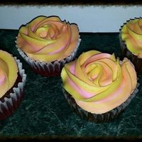 Cupcakes Two tone rose cupcakes.