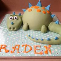 Dinasour Cake Made this for my cousins son