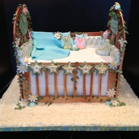 Cradle Baby Shower Baby shower cake