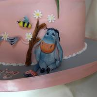 Eeyore One of the decorations from the Winnie the Pooh Christening Cake. I am afraid I am unable to upload the detailed images in the Christening...