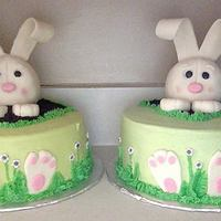 Easter Bunny Cake   I used RKT (first time) covered in candy melts, then fondant.