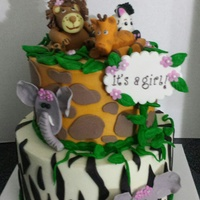 Baby Shower jungle theme cake for a baby shower