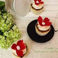 Red & White Red & White vanilla buttercream cupcake