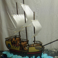 Pirate Ship Cake Grandma's birthday cake