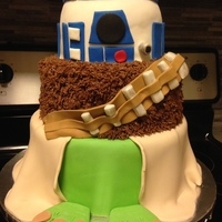 Star Wars Vanilla cake with vanilla buttercream