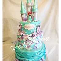 Little Mermaid Cake 3 tier Little Mermaid Cake