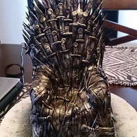 Game Of Thrones Cake Topper Iron Throne cake topper (from Game of Thrones). Fully edible. :)