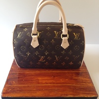 Louis Vuitton Purse Cake Louis Vuitton purse cake with gumpaste decorations