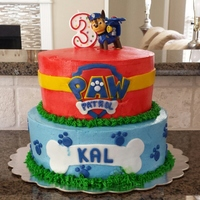 Paw Patrol Cake First time trying fondant decor on buttercream. This recipe is great for cupcakes, but not so much for cakes, unless they are served cold....