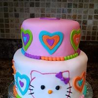 Rainbow Hello Kitty Directions were: Hello Kitty, Rainbow Colors and Hearts