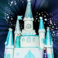 Frozen Castle Cake Frozen themed cake, The whole castle cake was based on McGreevy Cakes's free tutorial, Thank you Shawna