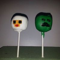 Cake Pops Mine Craft cake pops.