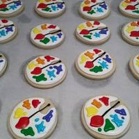 Palette Cookies Painters Party