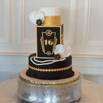 The Great Gatsby Sweet Sixteen Cake