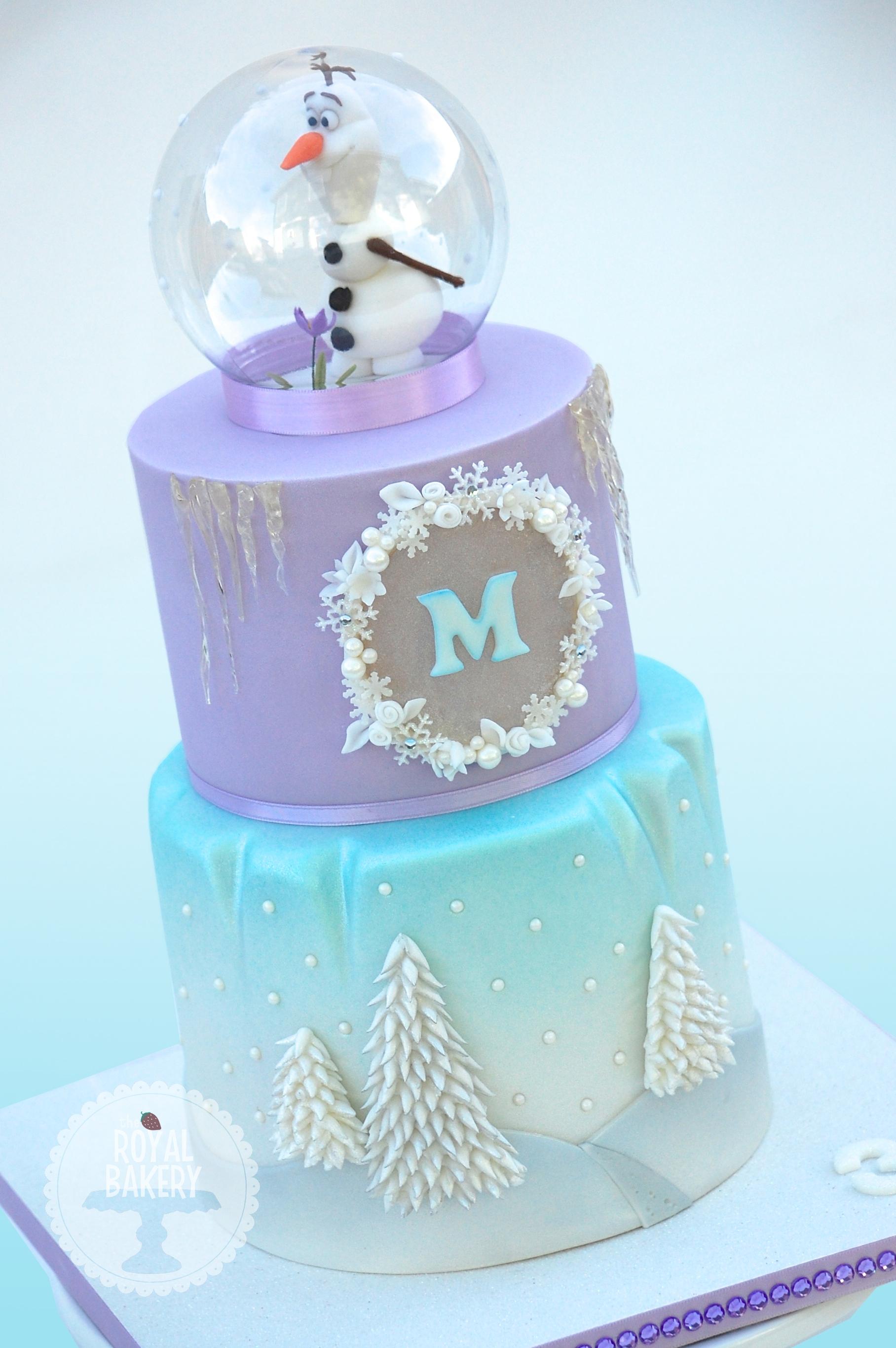 How To Make A Snow Globe Cake Topper
