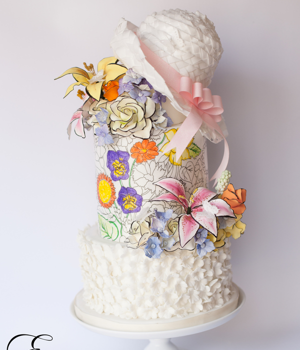 The Easter Bonnet- Easter Coloring Book Cake Collaboration...